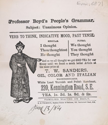Advert for TW Sanders, tea merchants